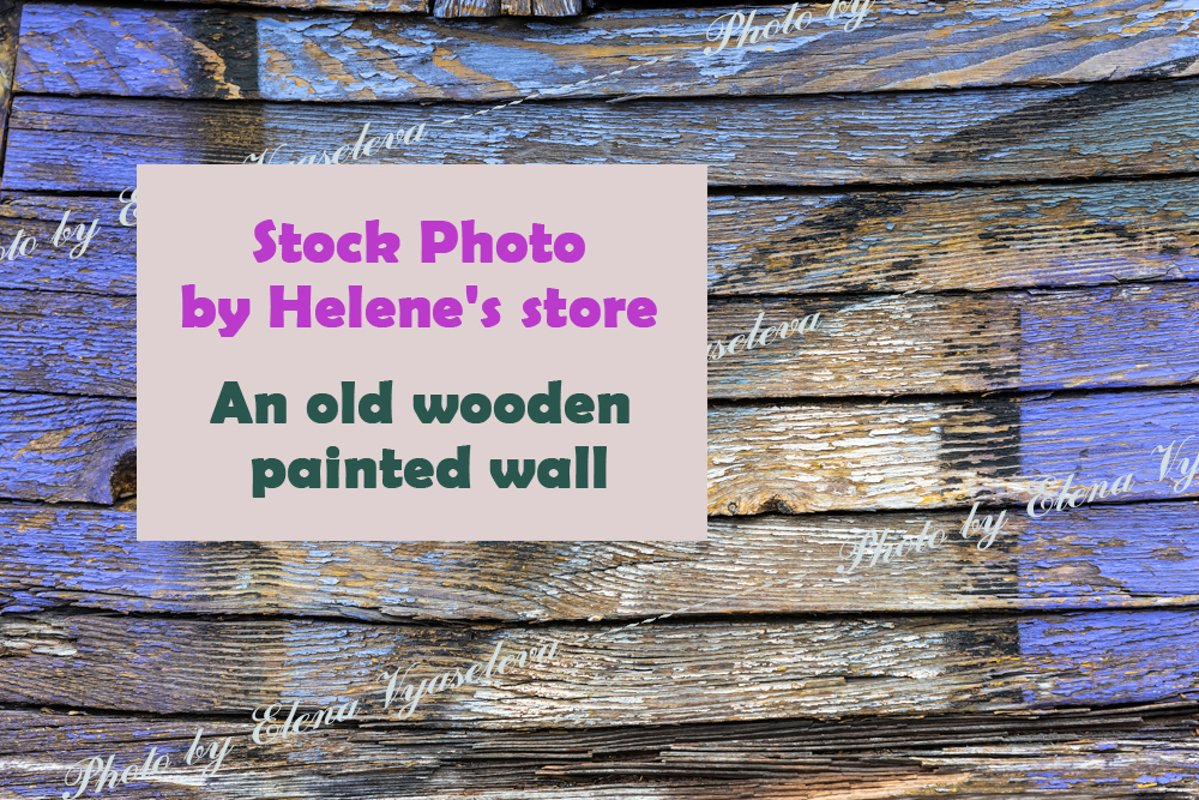 Texture of an old wooden painted wall example image 1