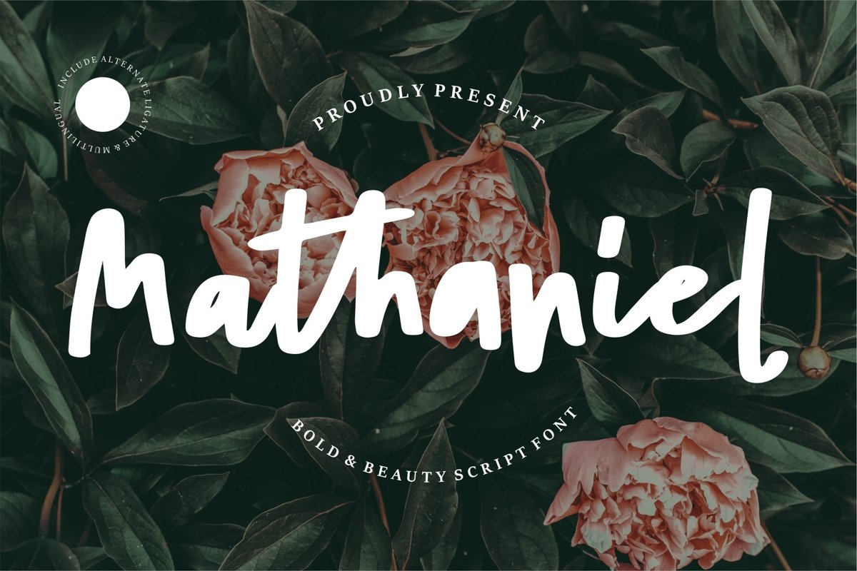 Mathaniel - Bold Beauty Script Font example image 1