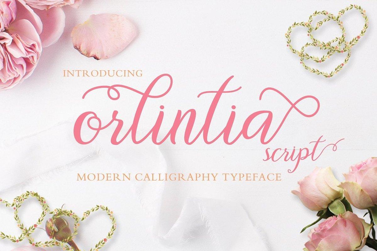 Orlintia Script  example image 1