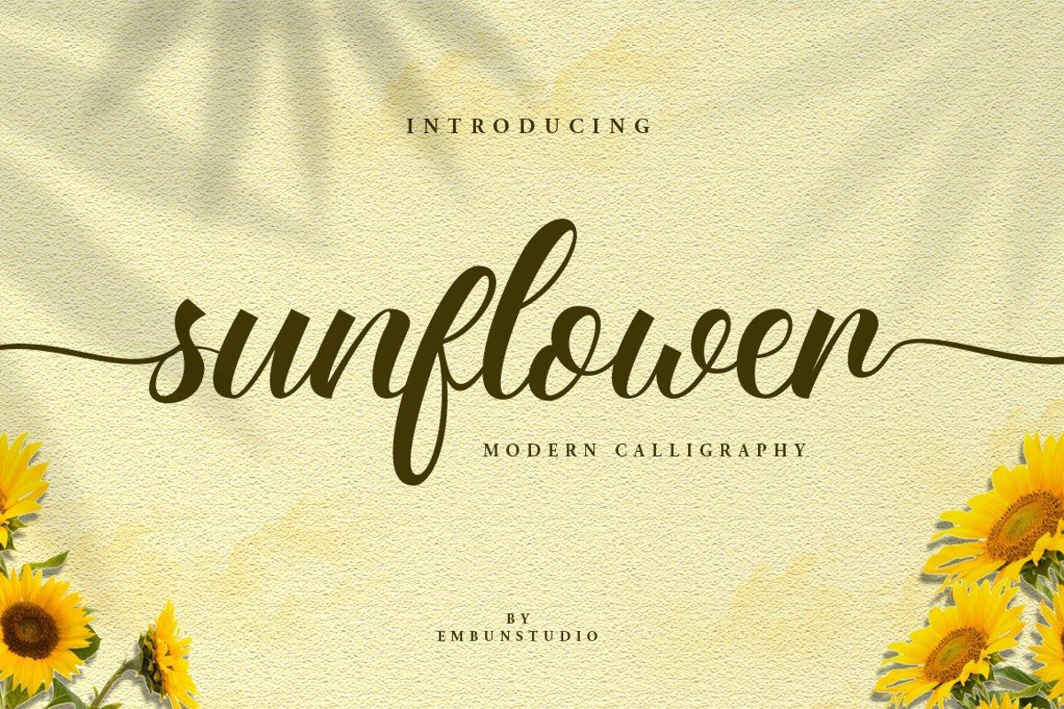 Sunflower Beauty Script example image 1