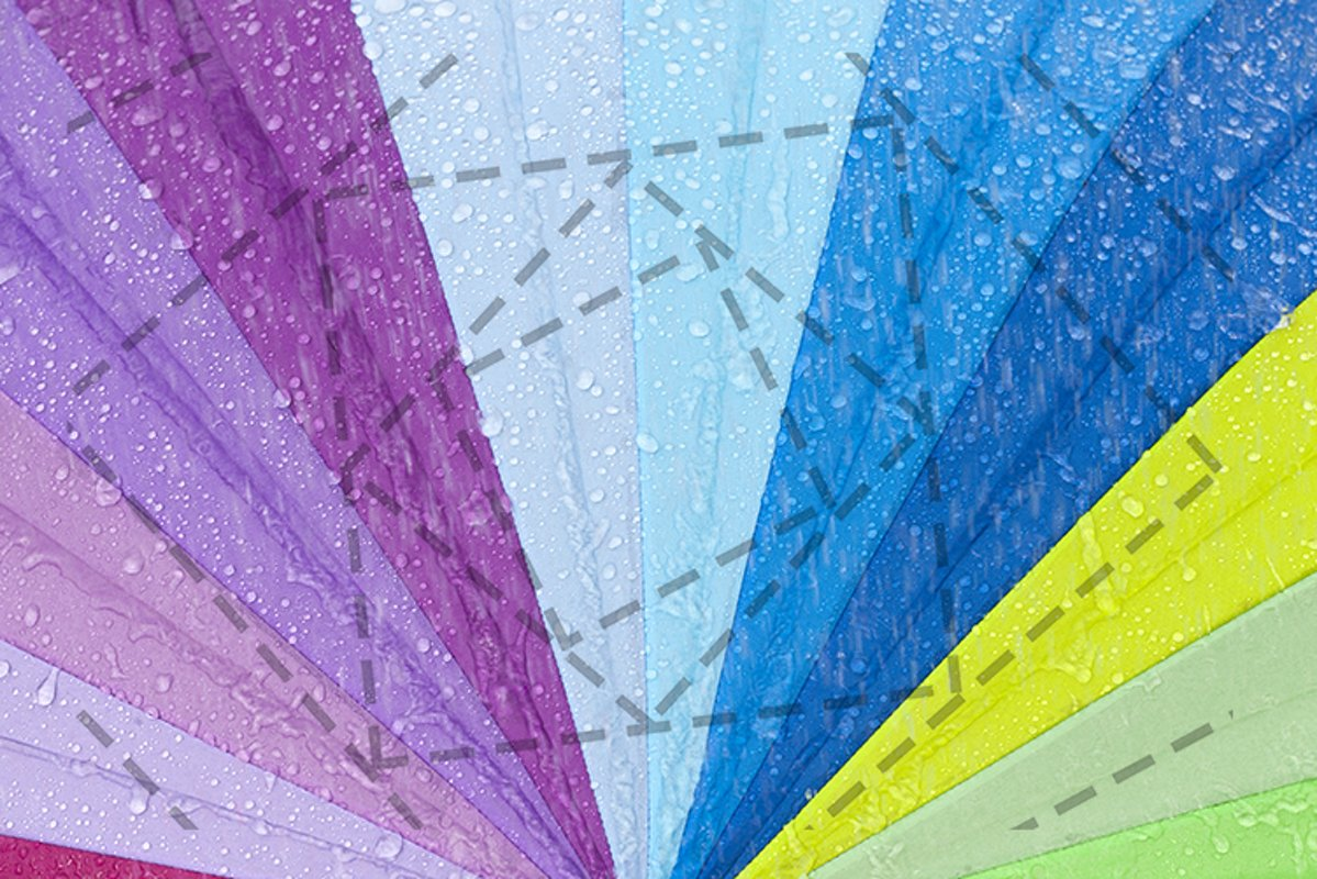 Colored umbrella of water drop. example image 1