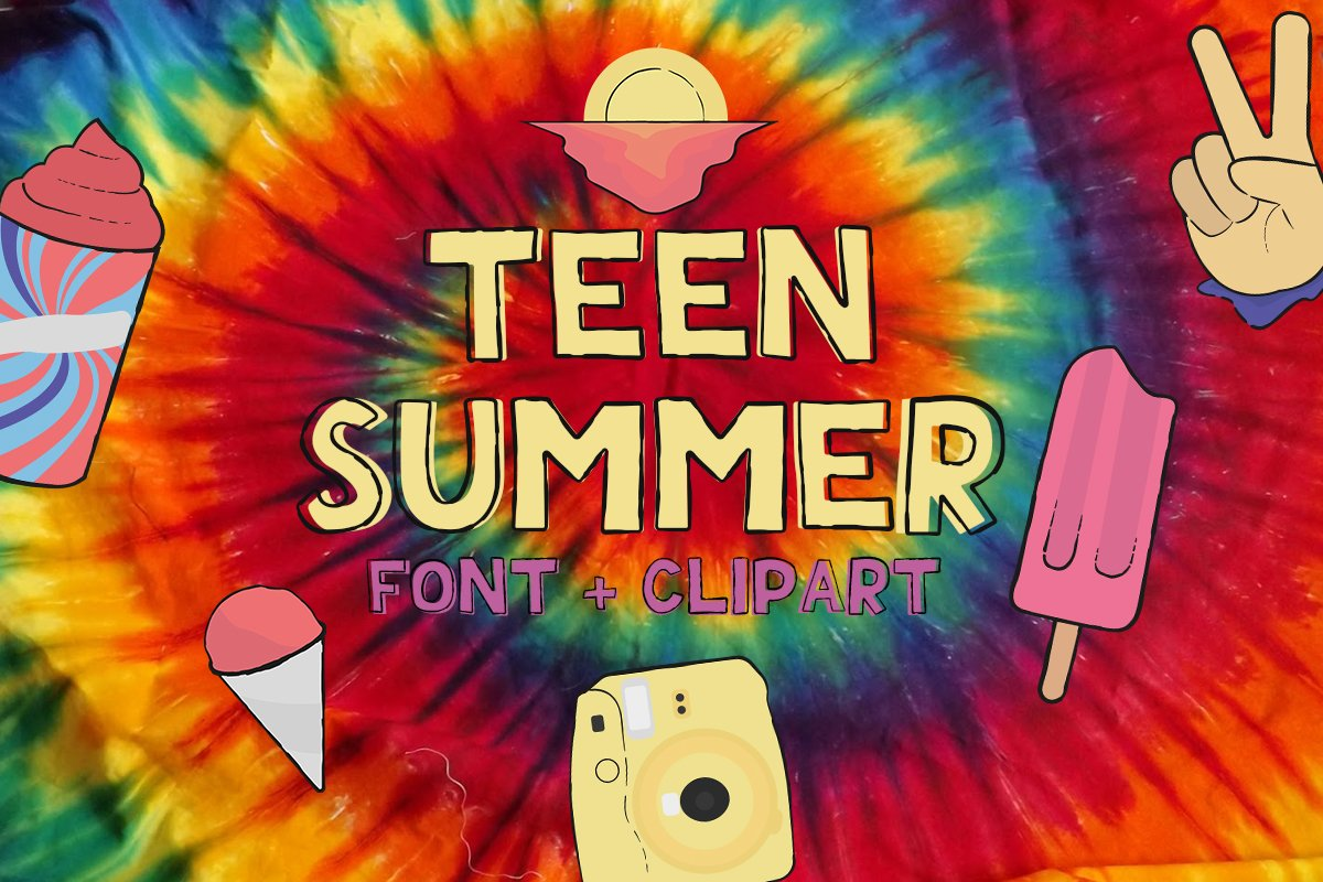Teen Summer - Layered and Cliparts example image 1