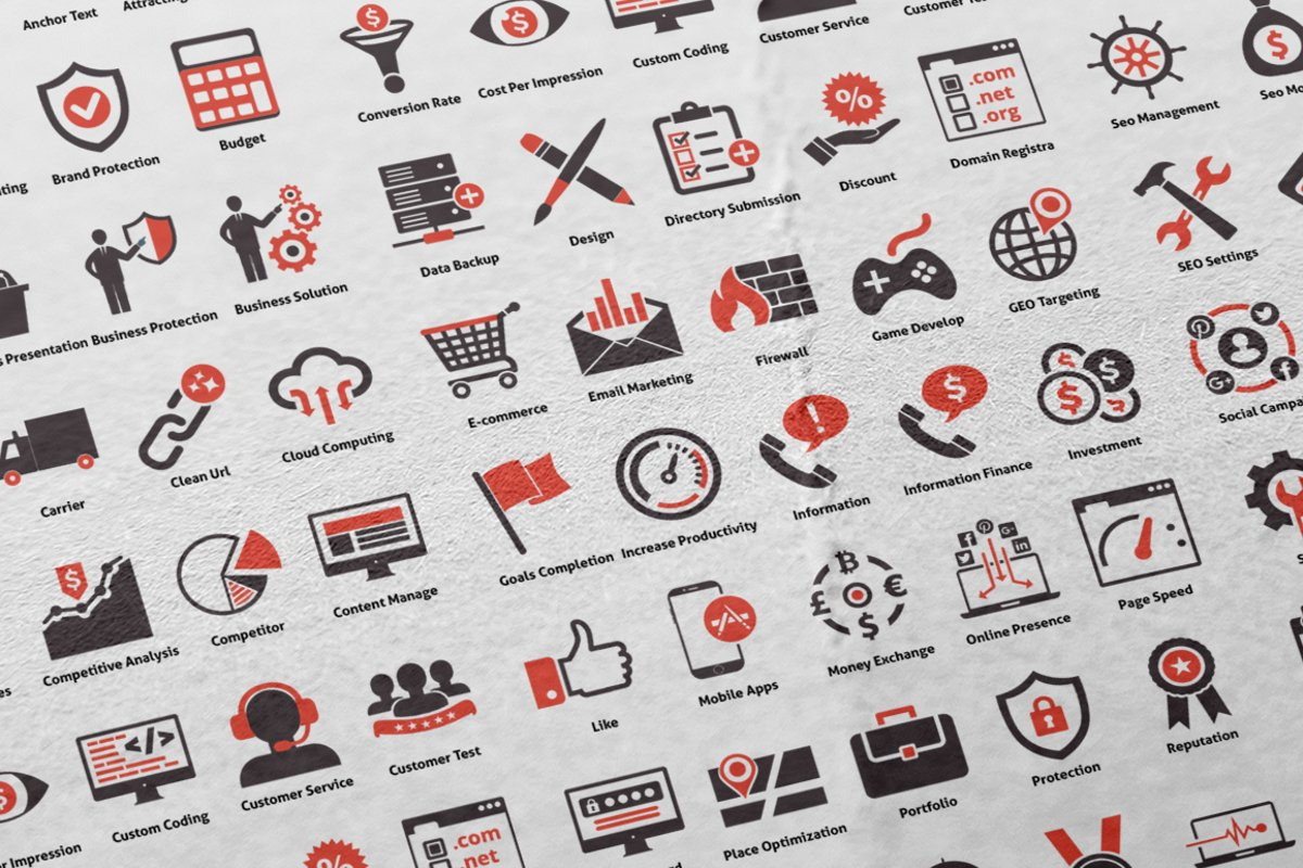 100 Seo Advanced Icons example image 1