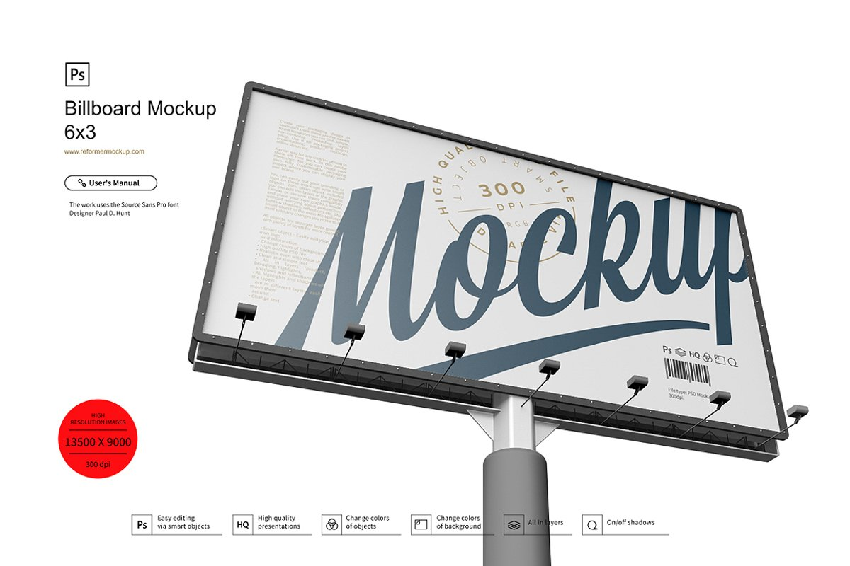 Billboard Mockup 6x3 example image 1