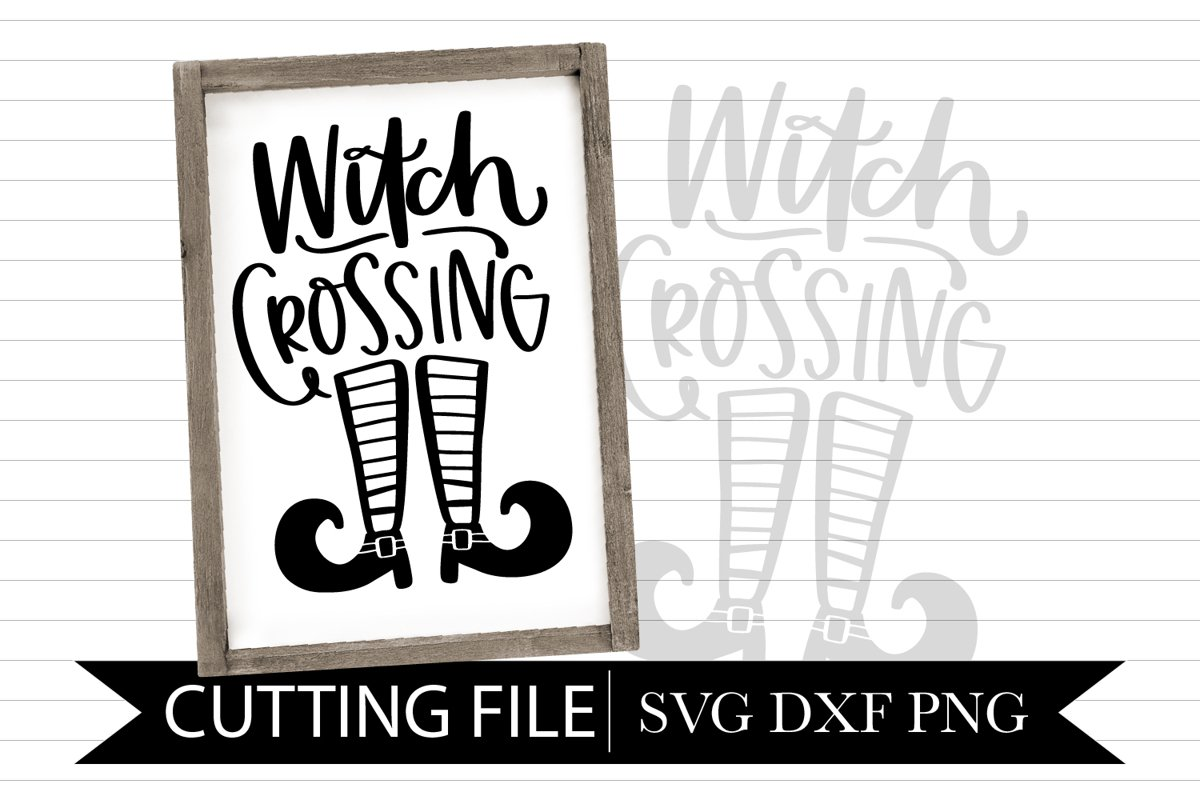 Witch Crossing - Hand lettered SVG example image 1