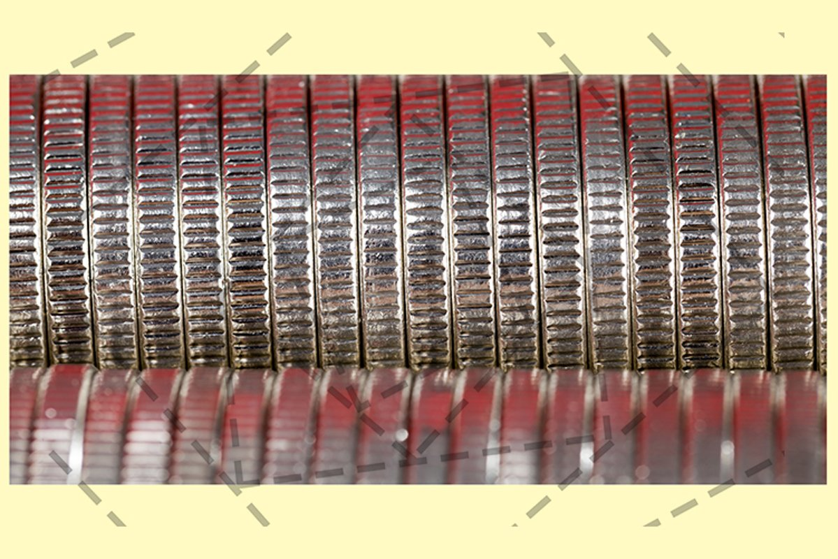 Coins red light stack. example image 1