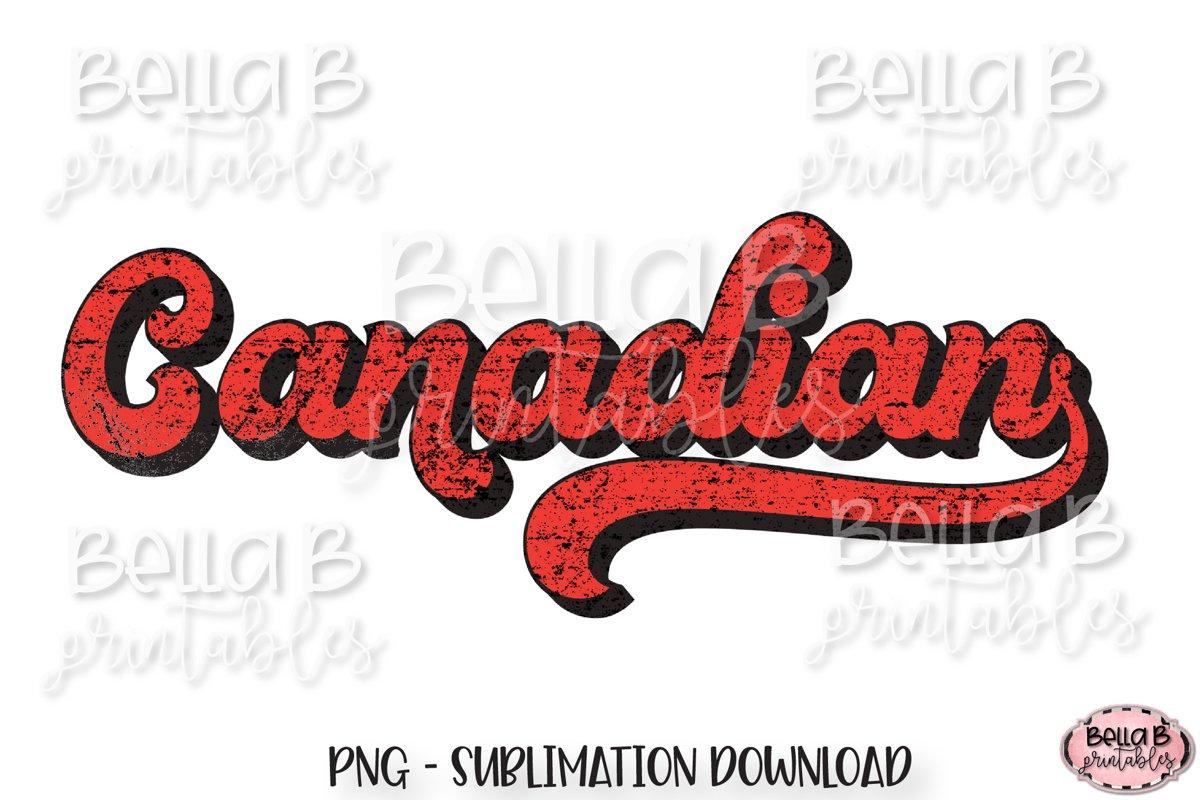 Canadian, Retro Canada Sublimation Design, Vintage example image 1
