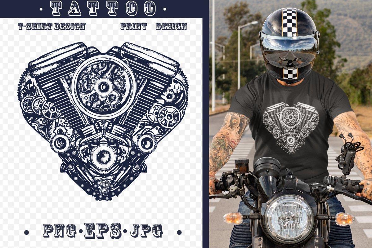 Motor heart tattoo example image 1