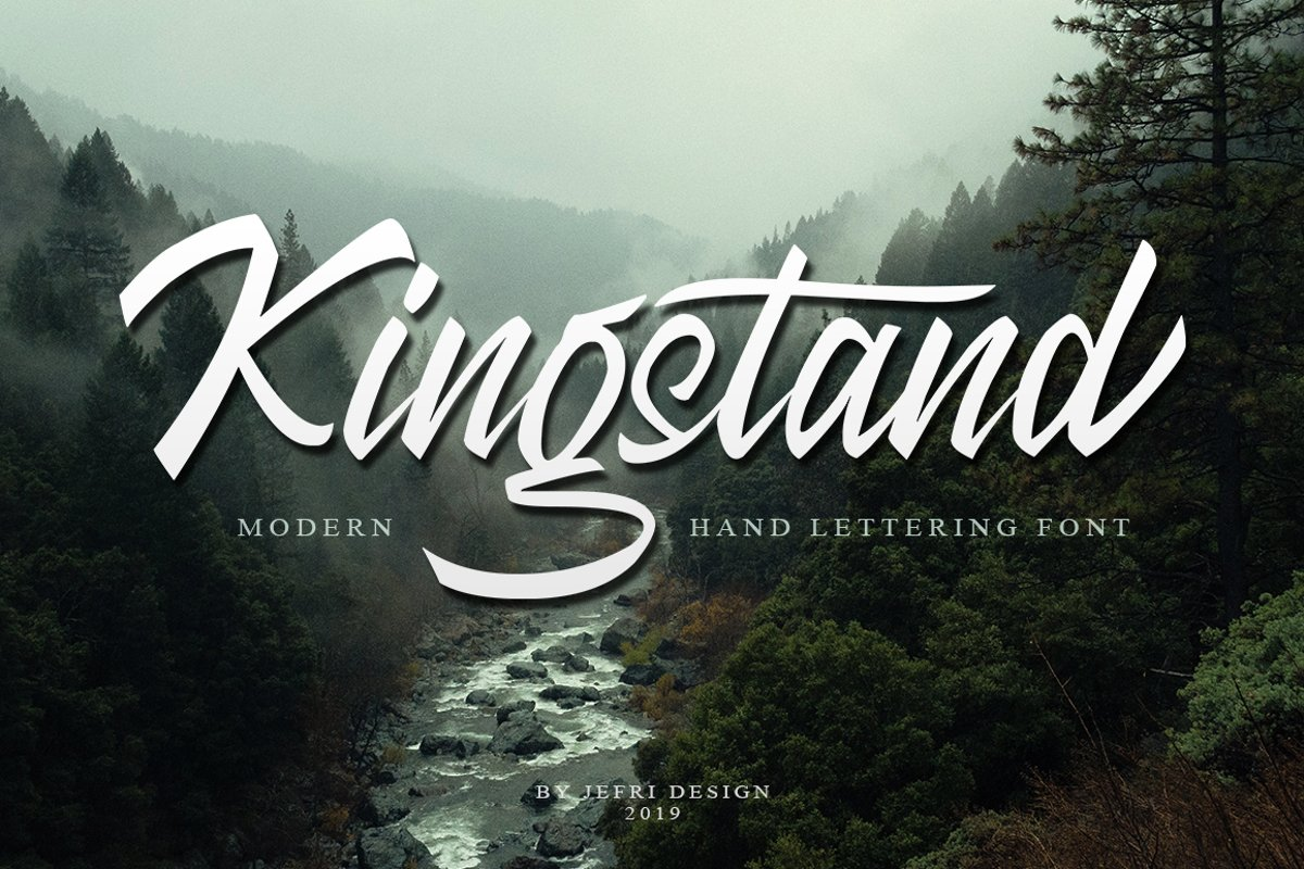 Kingstand Modern Hand Lettering Script example image 1