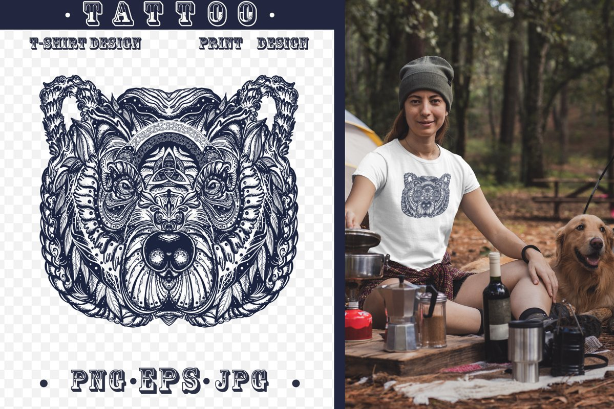 Celtic bear tattoo example image 1