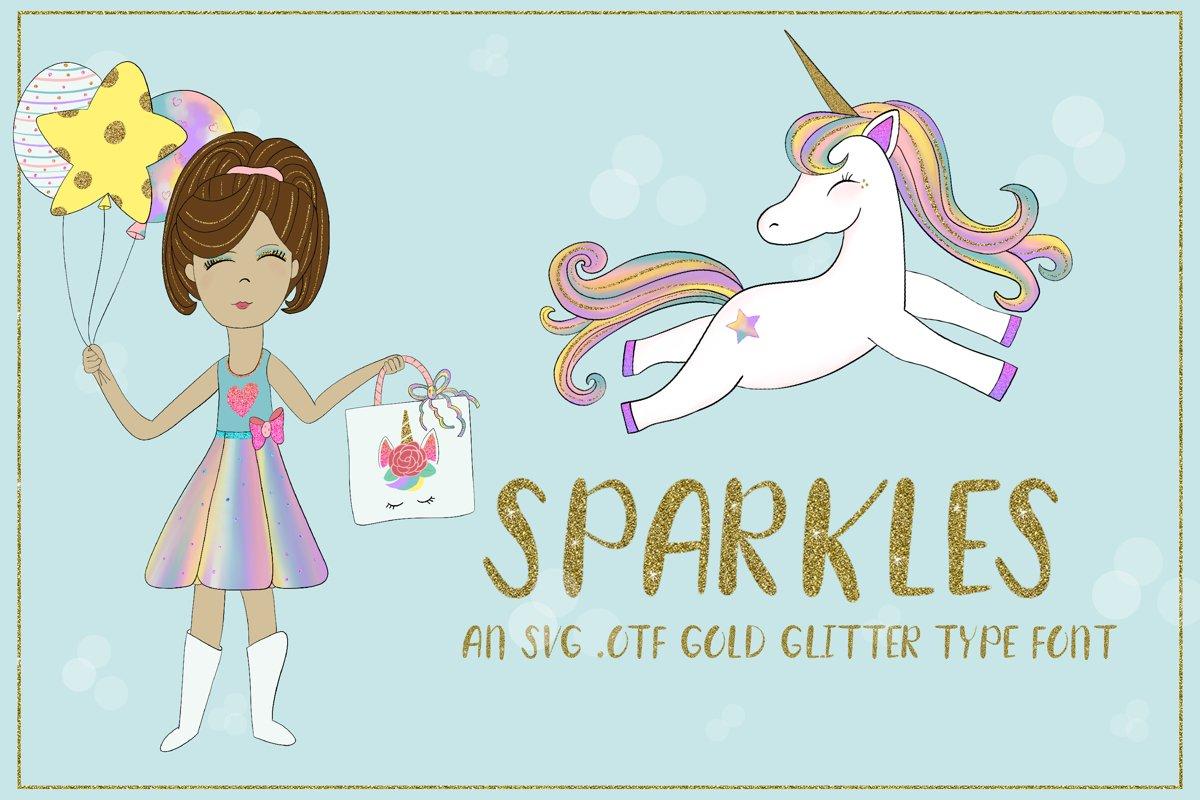 Sparkles, glitter font, glitter letters example image 1