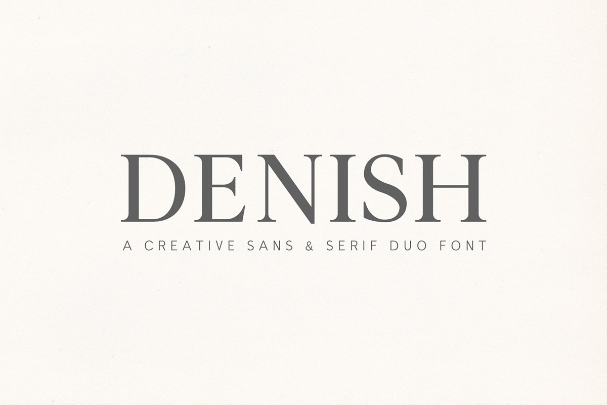 Denish Sans & Serif Duo Font Family example image 1