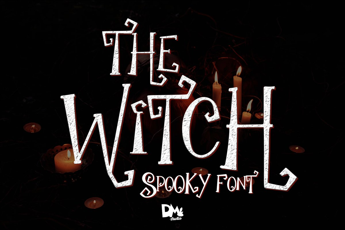 The Witch - Spooky Font example image 1