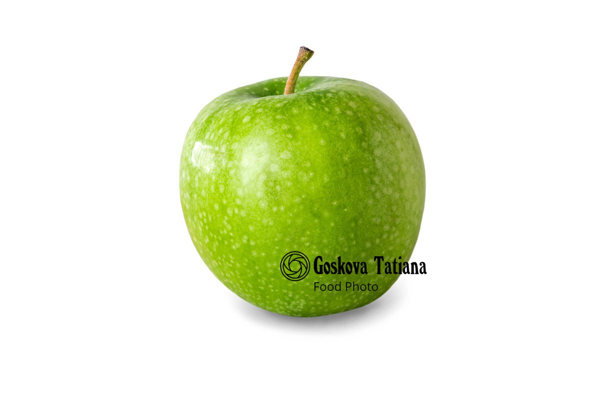 Photo of Green apple, isolated on white background example image 1