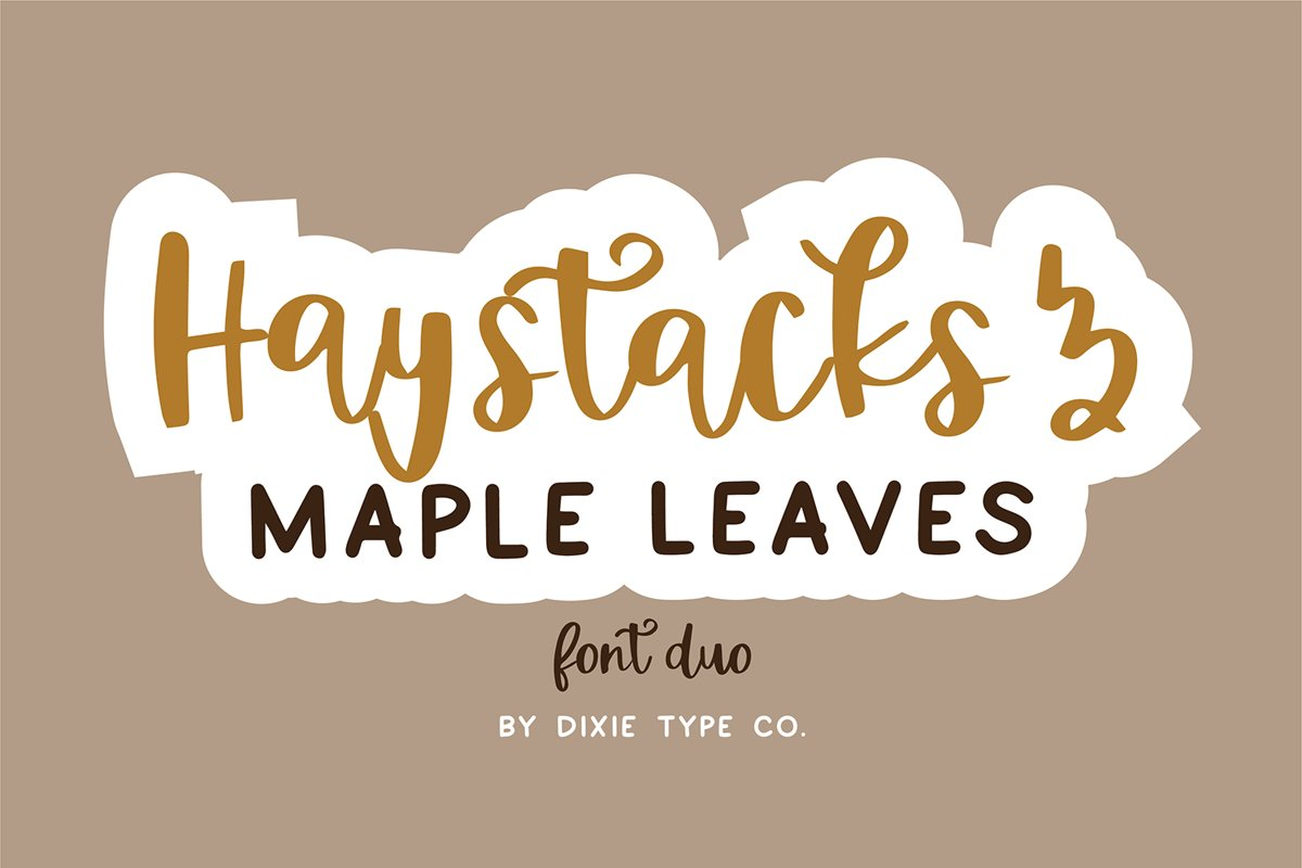 HAYSTACKS & MAPLE LEAVES Fall Font Duo example image 1