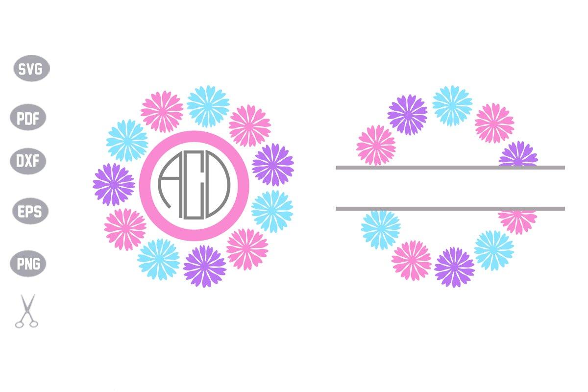 flower monogram SVG example image 1