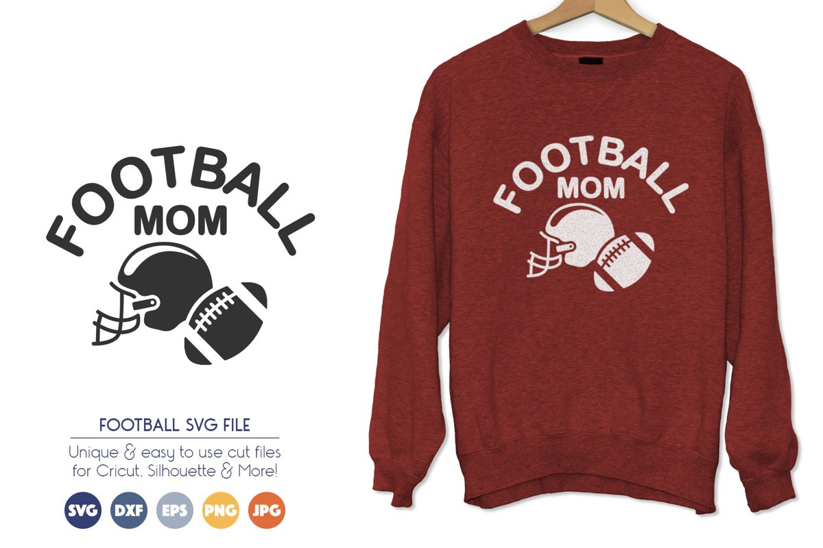 Football Mom SVG Cut Files example image 1