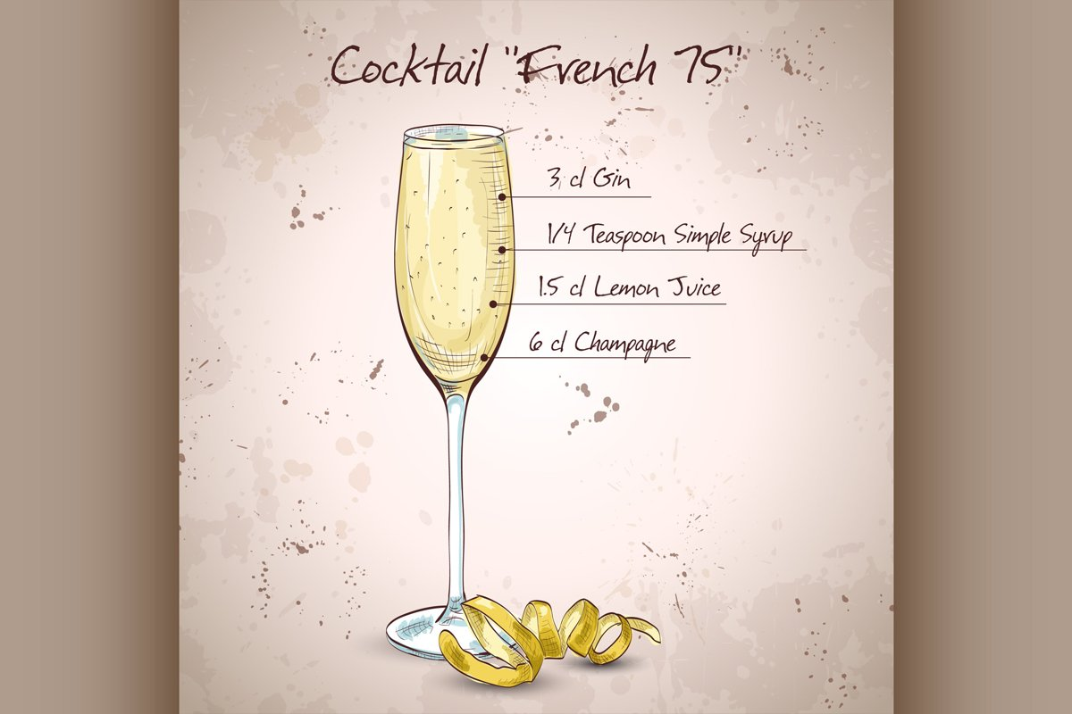 Cocktail French 75 example image 1