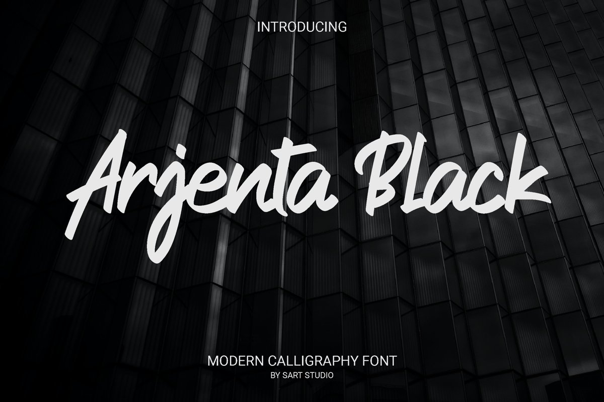 Arjenta Black - Modern Calligraphy Font example image 1