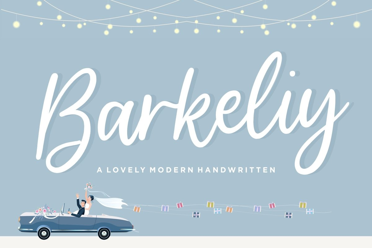 Barkeliy Lovely Handwritten Font example image 1