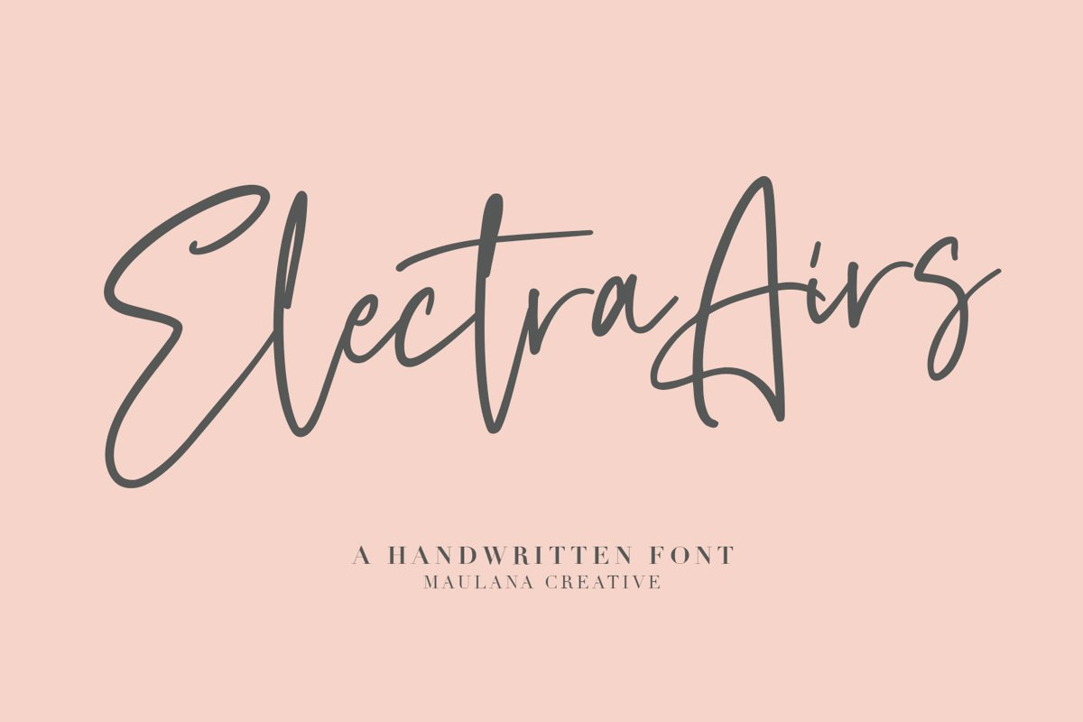 Electra Airs Typeface example image 1