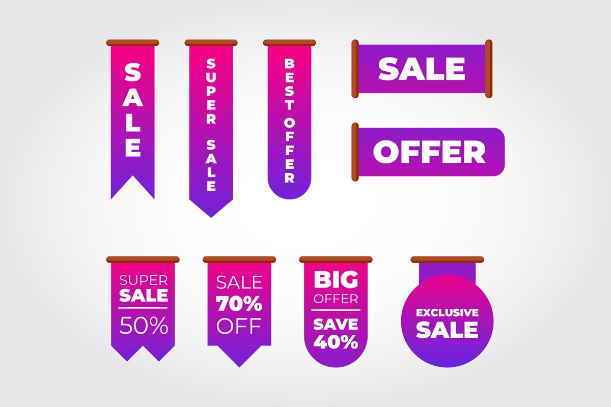 Flat Sale Label Collection example image 1