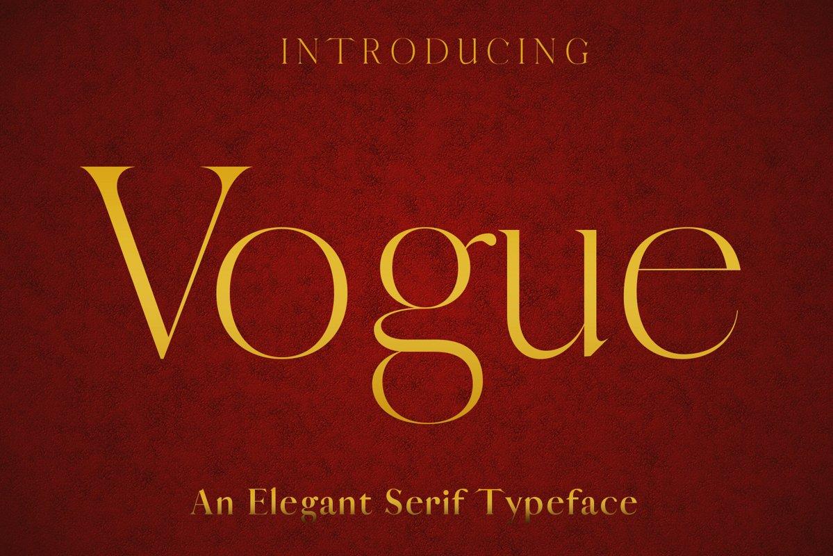 VOGUE - An Elegant Typeface example image 1