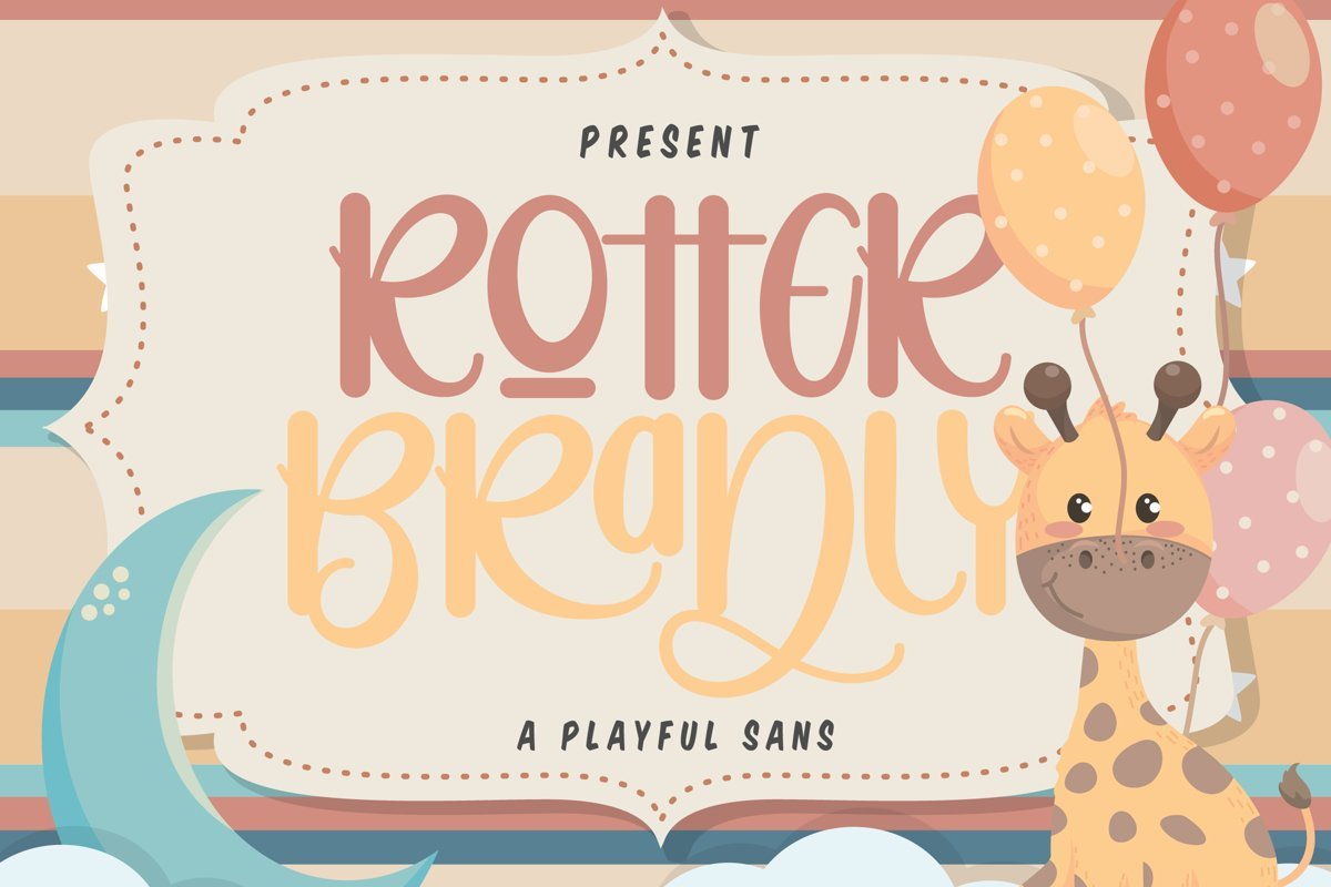 Rotter Bradly   A Playful Sans example image 1