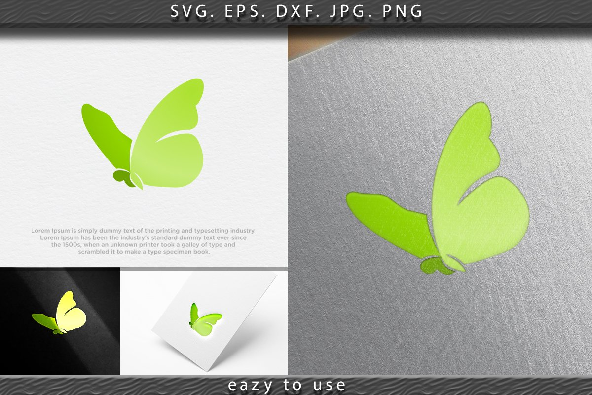 Colorful butterfly logo Ideas. Inspiration logo design. Temp example image 1