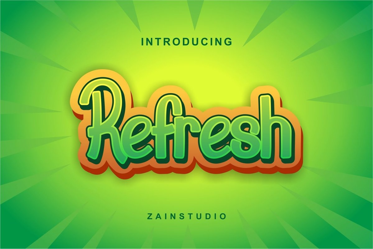 Refresh Display Font example image 1