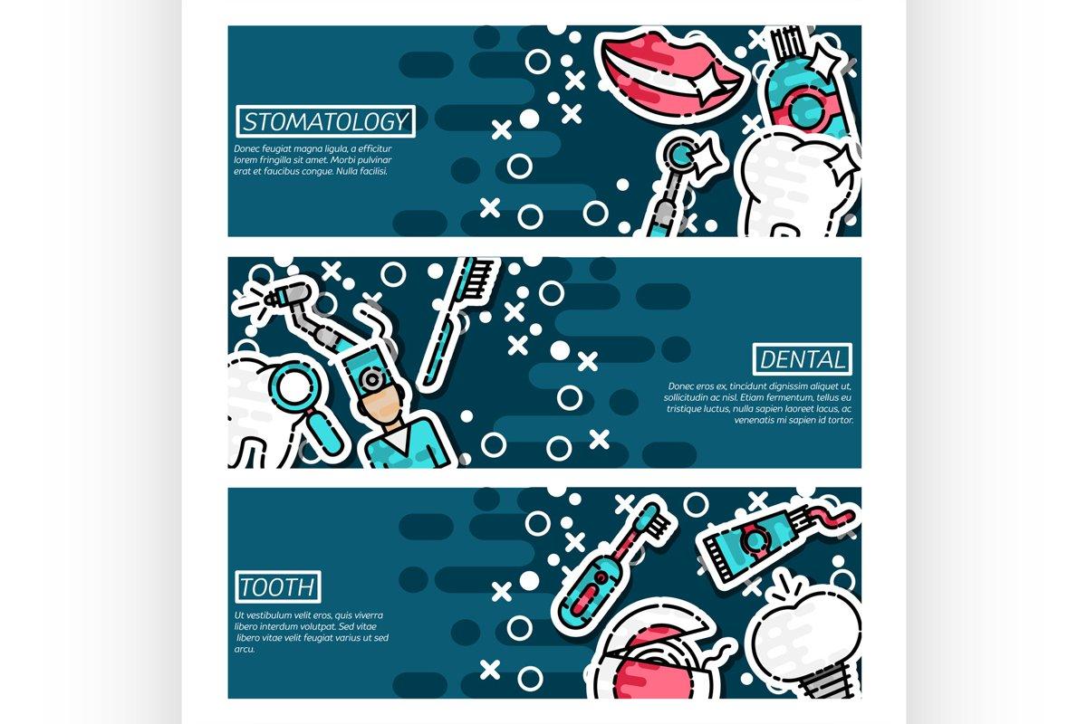 Set of Horizontal Banners about stomatology example image 1