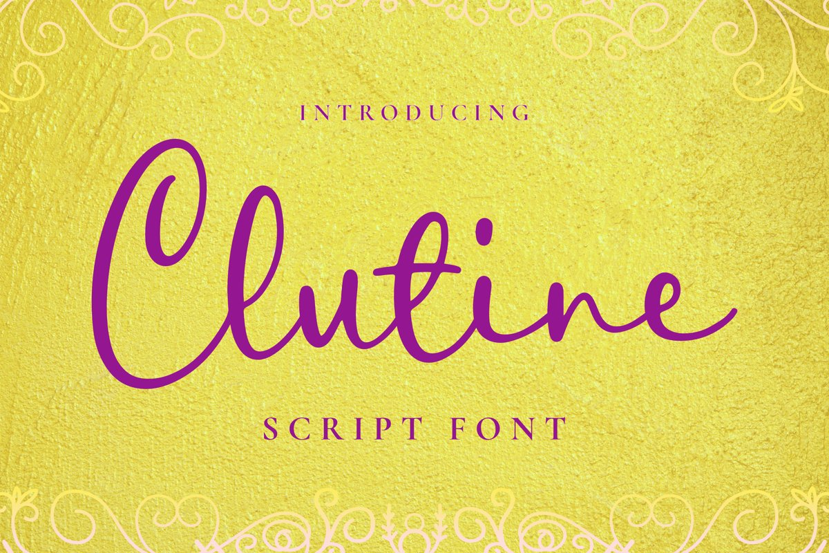 Clutine Font example image 1