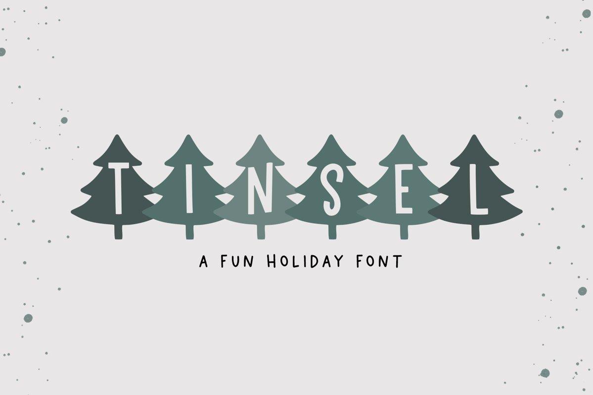 Tinsel - A Fun Holiday Font example image 1