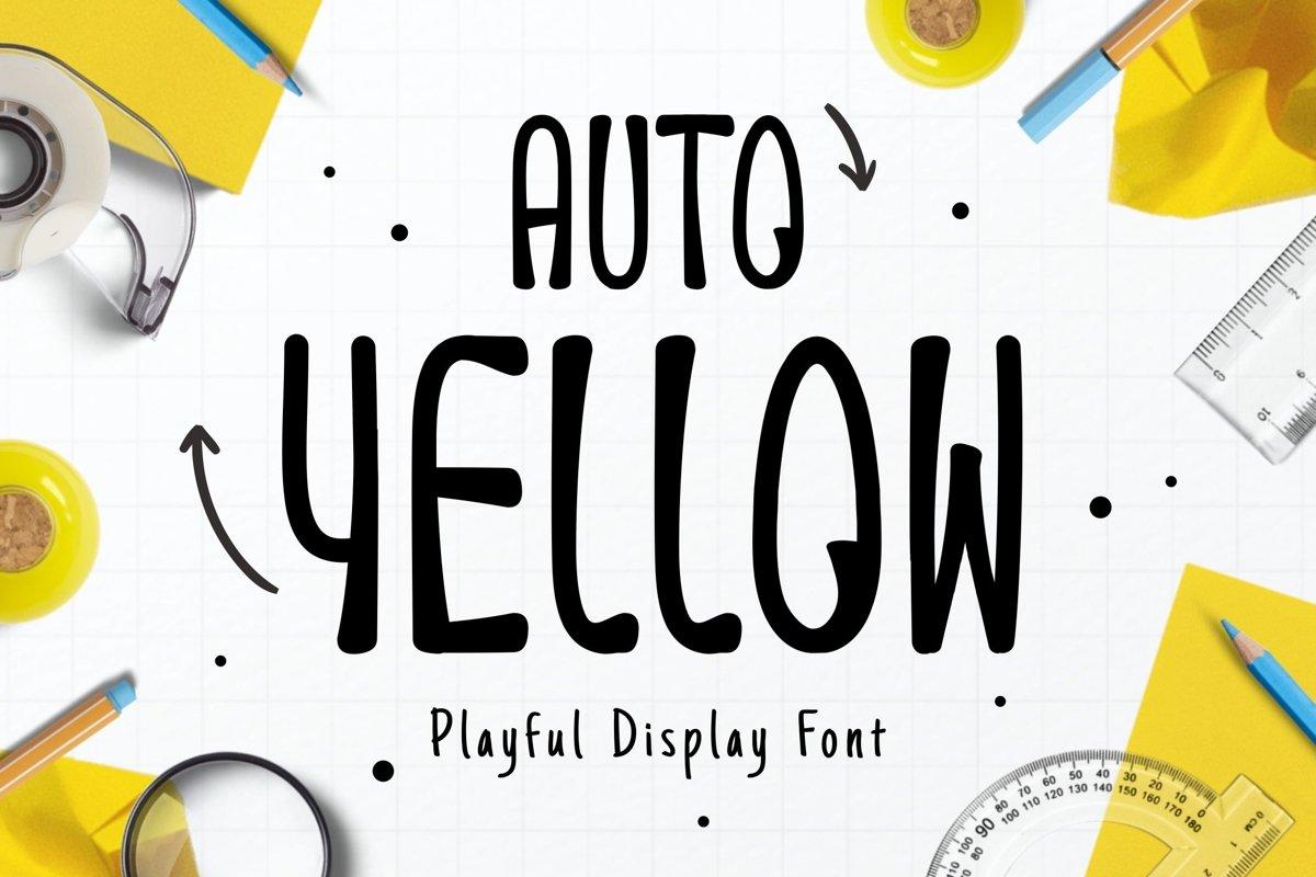 Auto Yellow Font example image 1