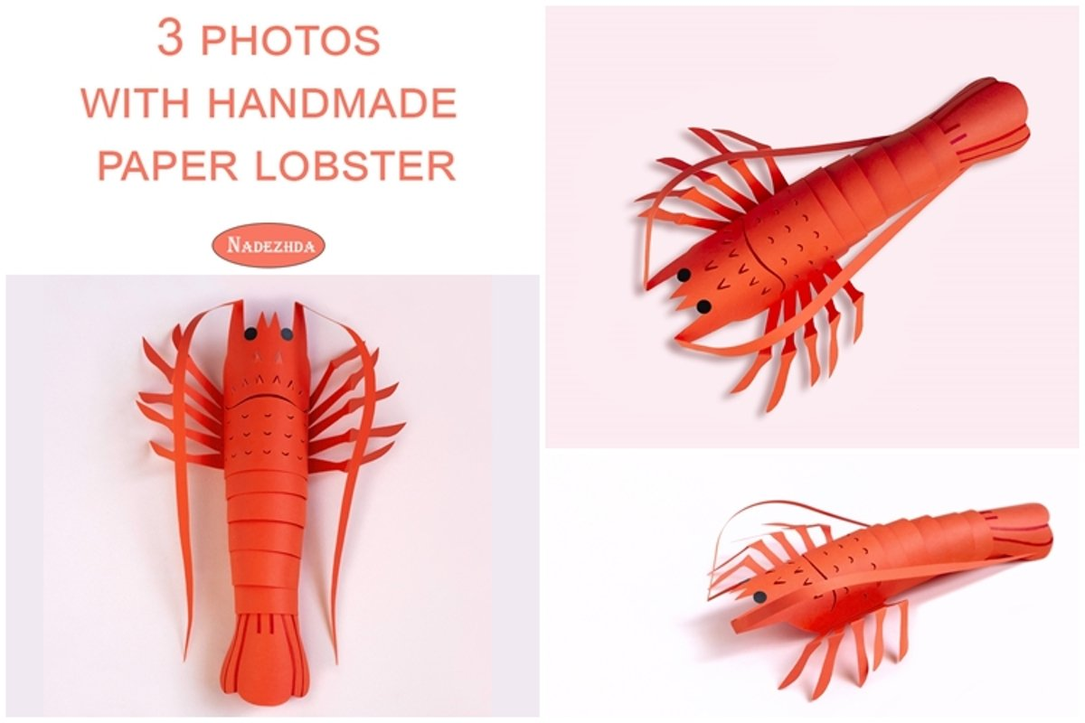 Paper spiny lobster example image 1