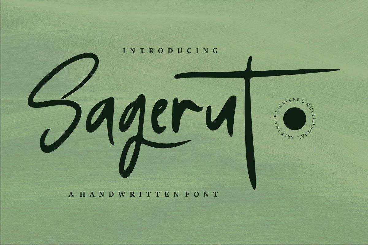 Sagerut - A Handwritten Font example image 1