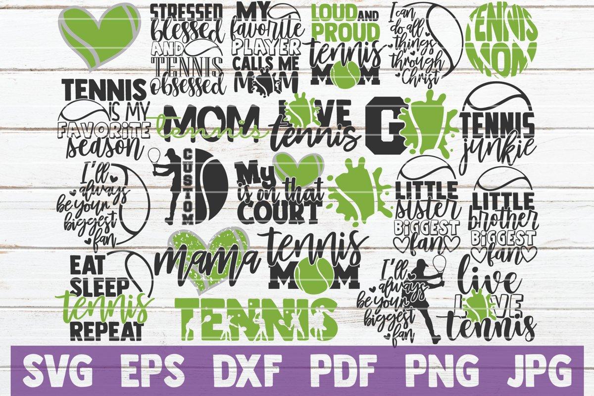 Tennis SVG Bundle | Tennis Mom SVG Cut Files example image 1