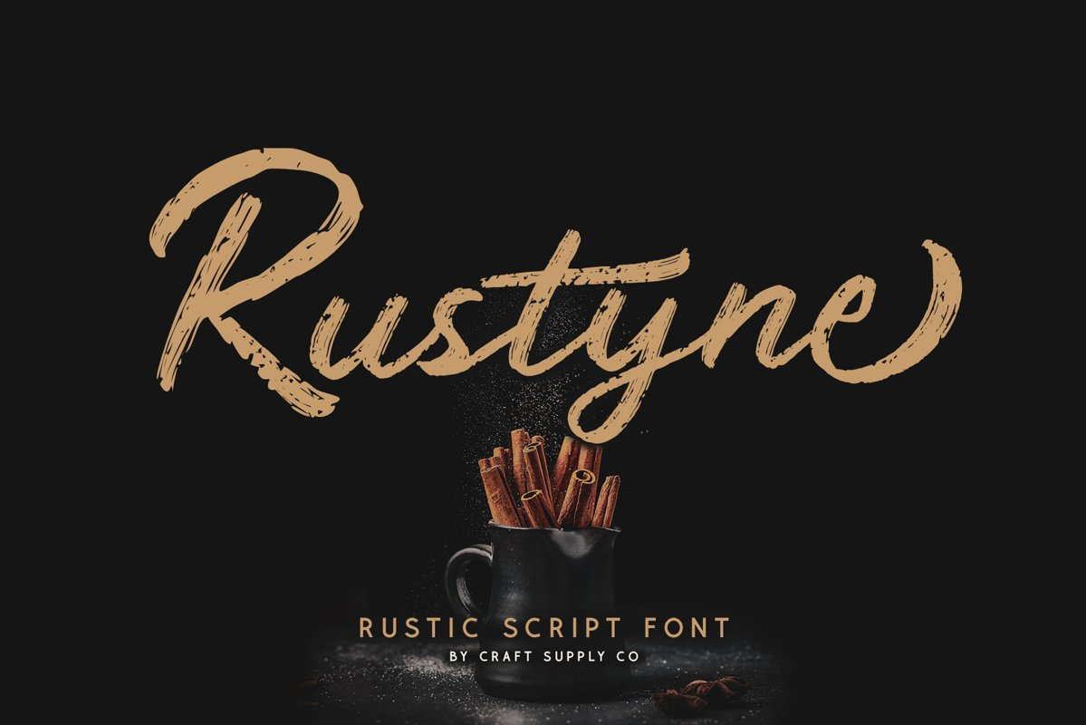 Rustyne - Rustic Script Font example image 1
