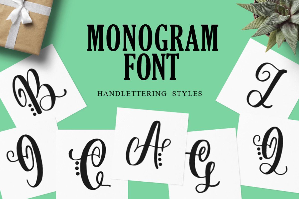 Monogram Handlettered for Crafters example image 1