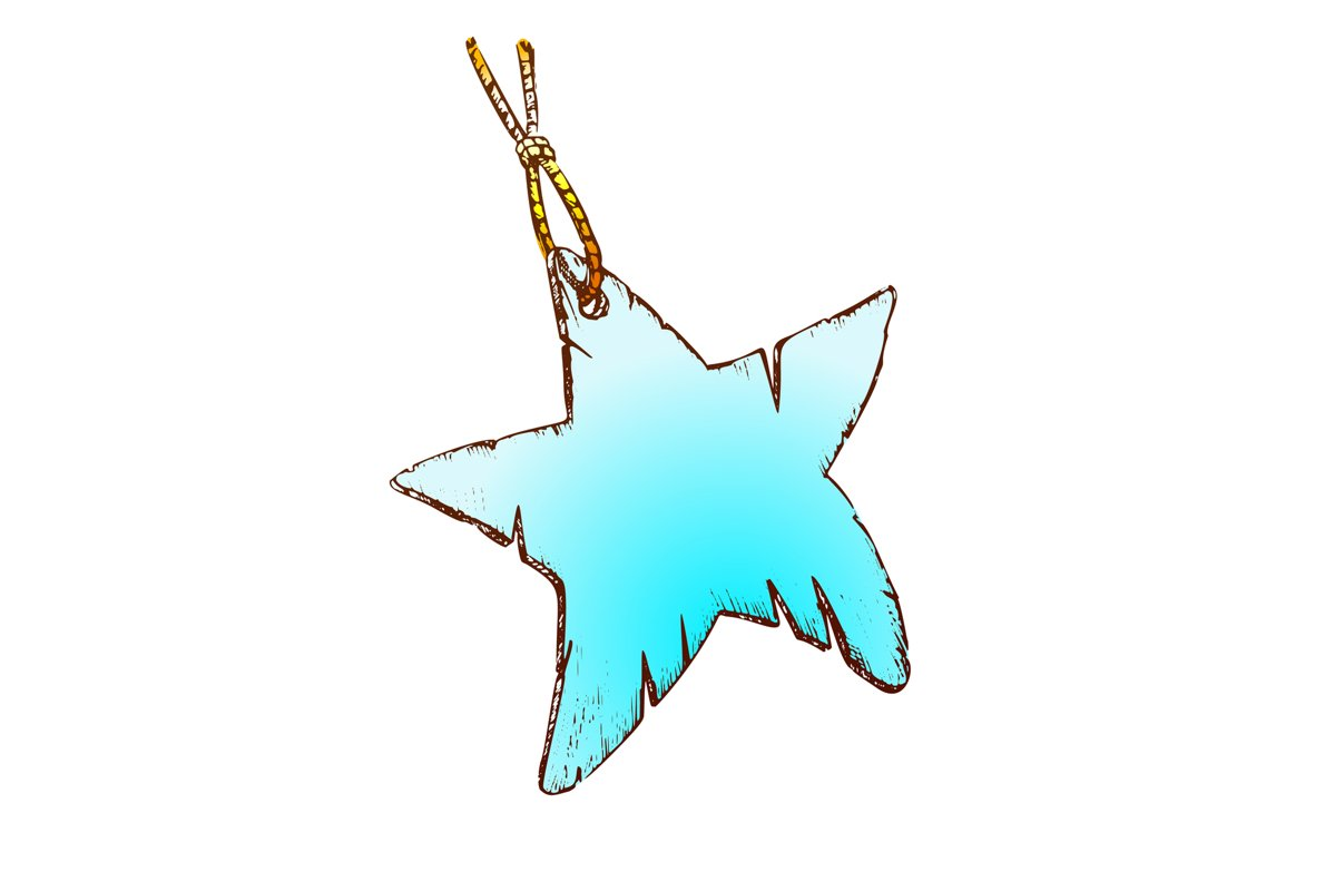 Label Paper Material In Star Shape Color Vector example image 1