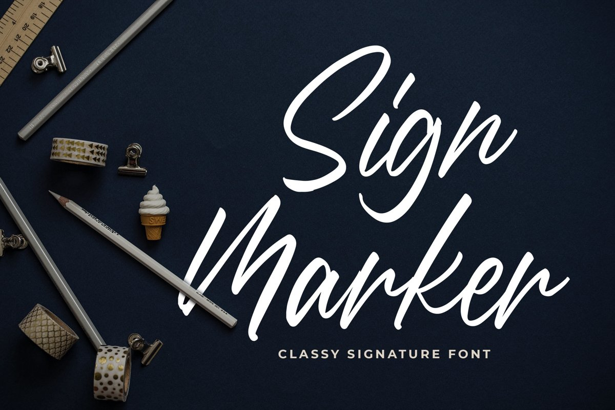Sign Marker - Classy Signature Font example image 1