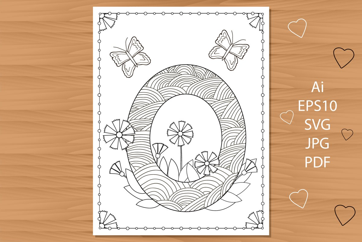 Fun Valentines Easy Coloring Pages Alphabets | Balloons | 800x1199