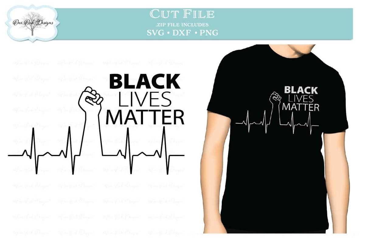 Black Lives Matter BLM EKG Heartbeat example image 1