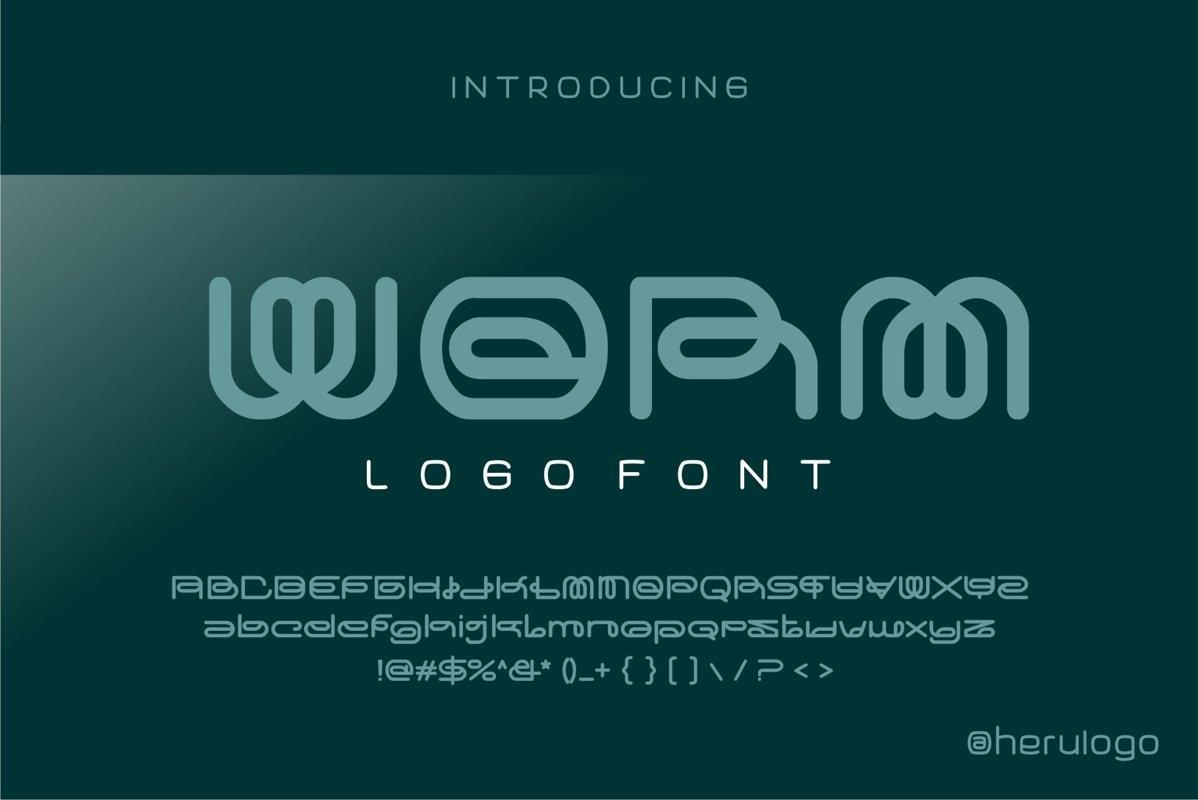 Worm logo font example image 1