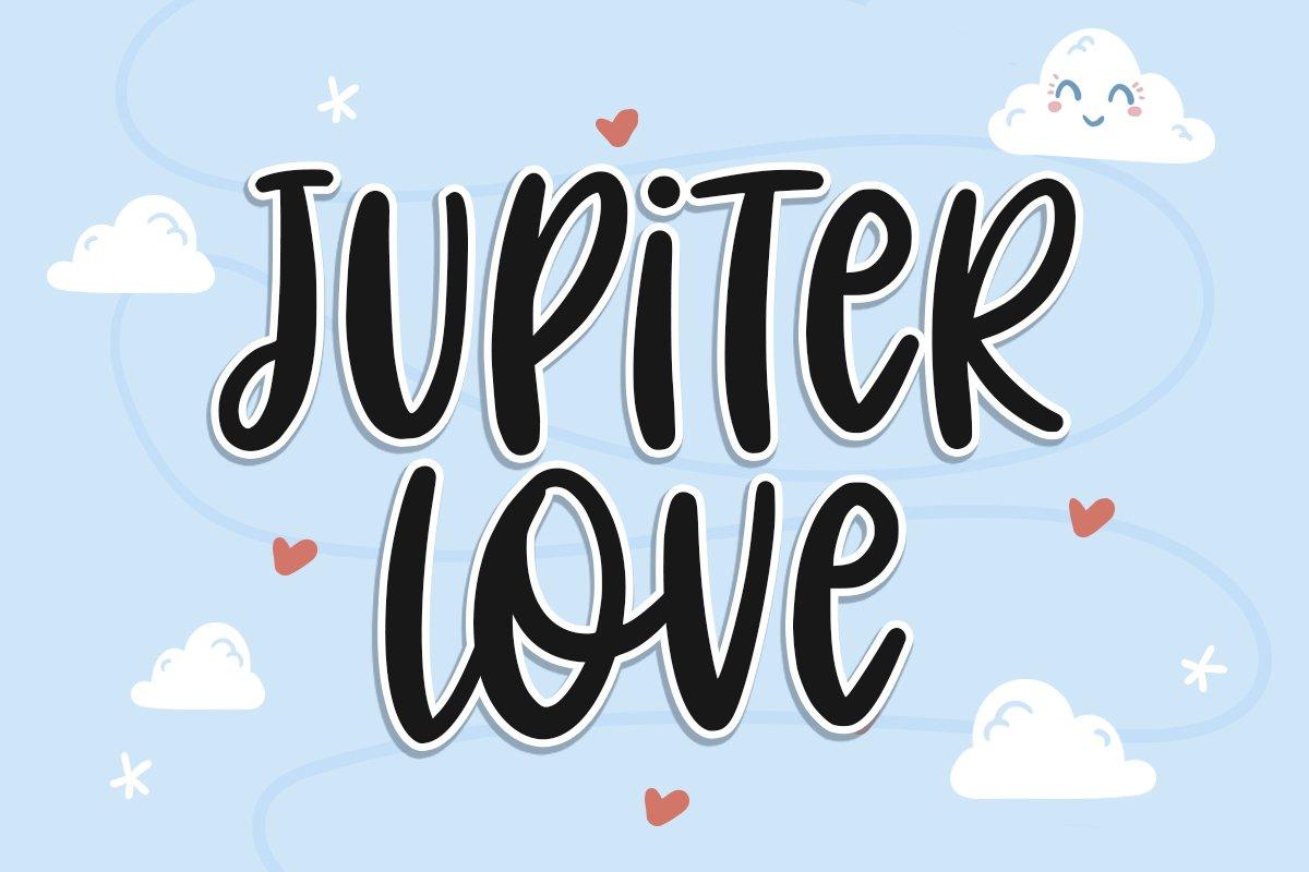 Jupiter Love | Handwritten Font example image 1