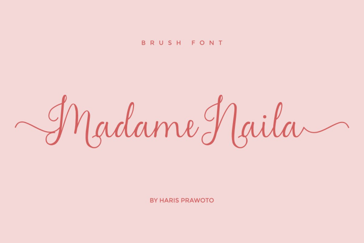 Madame Naila- Lovely Modern Calligraphy example image 1