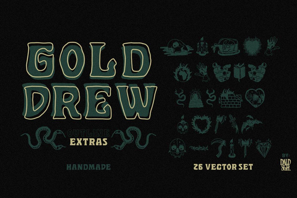 Golddrew Fonts example image 1