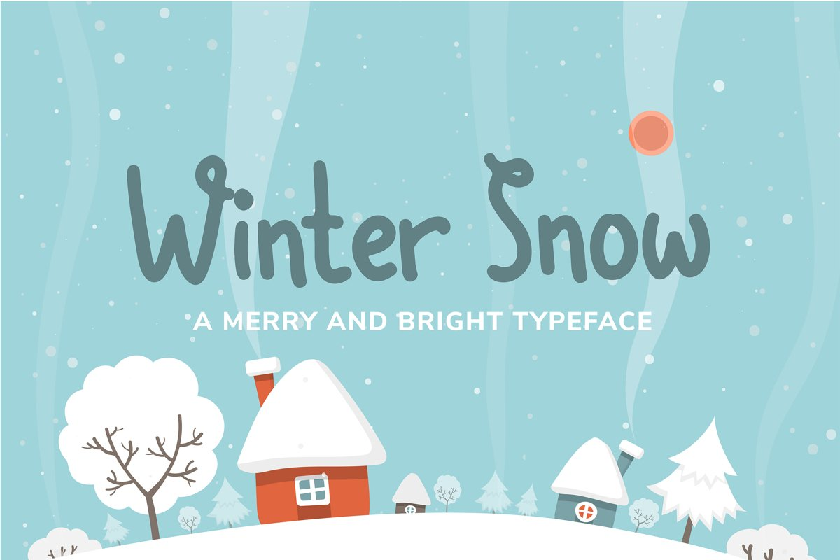 Winter Snow | Fun winter font example image 1