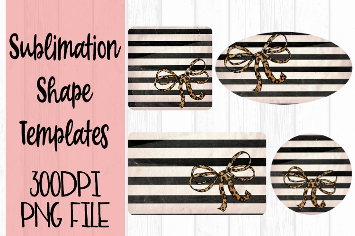 Striped with Leopard Sublimation Templates example image 1