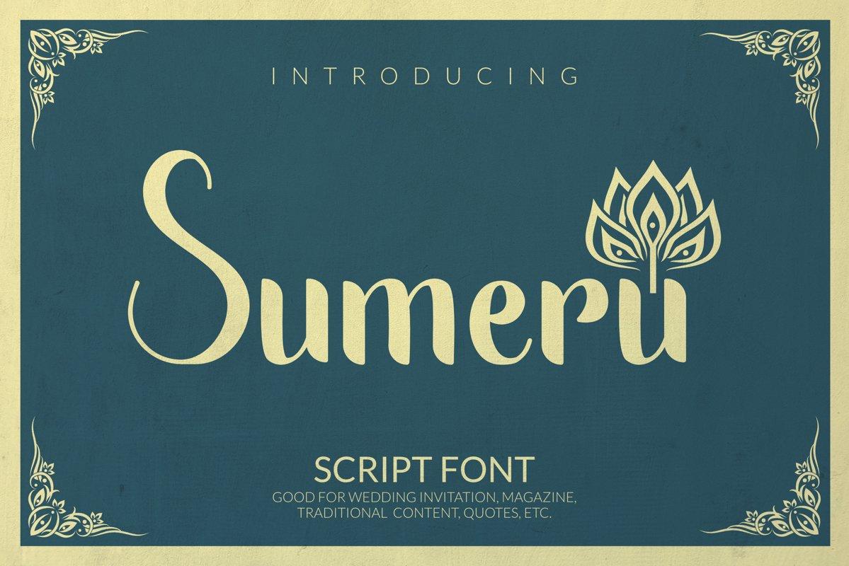 Sumeru Font example image 1